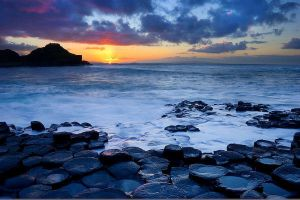 Sunset at Giant's Causeway by Alex37