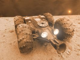 Mars Rover Shuttle Base Front by skphile