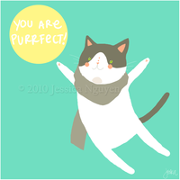 Vday Cards - You're Purrfect by liljeska