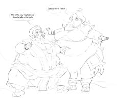 Toph and Katara Fat Ewww by Eishiban