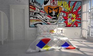 PopArt Interior Bedroom by Bergie81