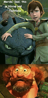 Fergus meets Hiccup and Toothless by Scribble-Bugg