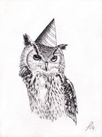 Party Animal - Owl by 4Gemsbok