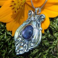 Upcycled Silver Spoon Pendant2 by metalsmitten