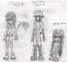 Rosa, Jag and Syd Concepts by DizzieDoodles