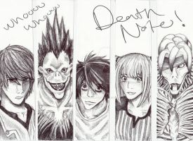 Death note bookmark set by Winged-Evil
