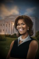Michelle Obama second printing by VinRoc