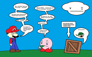 kirby - where's luigi? by KingKirbyThe3rd