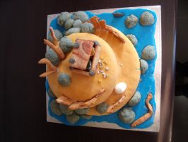 Pirate Island Cake 5 by BevisMusson