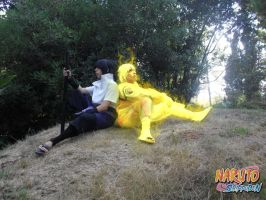 Friends~ Naruto Chakra Mode and Sasuke Susano'o by Naruto-Cosplay-Cadiz