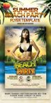 Summer Beach Party Flyer Template by arEa50oNe