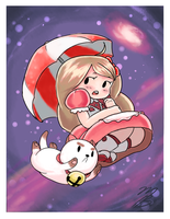 :Commission: Bee and PuppyCat by LordZaix