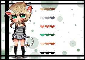 Rinni's new design + reference by xDeliciousDemise