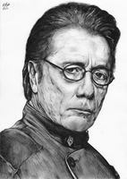 Admiral Adama - BW by The-13th-Doctor