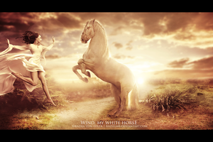 Wind, my white horse by RazielMB
