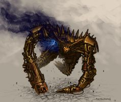 Damaged Trash-Mech by Aerozopher