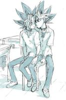Yugi and Yami Yugi by yugihara