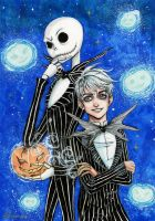 Crossover Jack Frost and Jack Skellington by maru-redmore