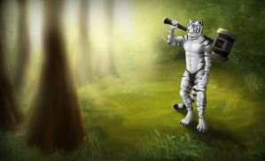 Tiger in the Forest by CtrlAltCat
