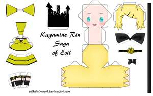 Rin Kagamine Papercraft Saga of evil by ChibiDairacool