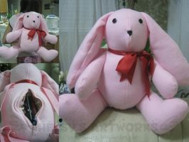 Pink Bunny Bag by YunaSakura