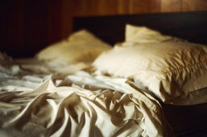 empty bed in an empty room II by aimeelikestotakepics