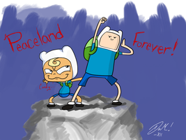 Flappy and Finn by mabusxx