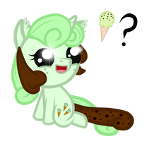 Minty chip chibi by HeartRoyali