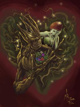 Groot + Ivy by chillier17