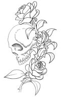 Skull Roses by alexdicko