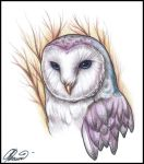 An owl tattoo by RayneColdkiss