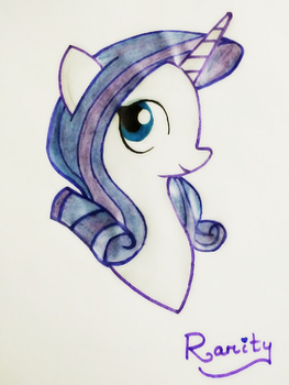 Rarity Painting by priyan26