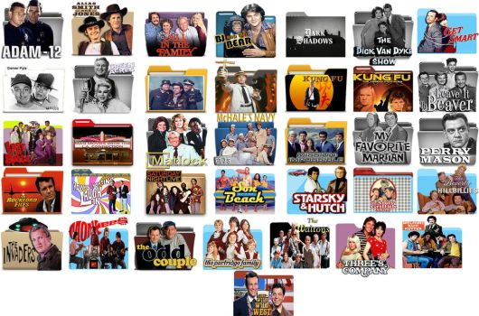 Classic TV Folder Icons by DJDale69