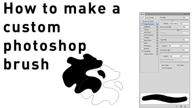 How to make a photoshop custom brush by delira