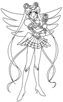 Eternal Moon Coloring Page by ParamourPhoenix