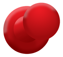 Red Push Pin PNG by BloodyWilliam