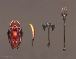 Weapon Set 2 by BrianLukArt