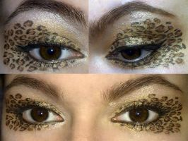 Leopard print makeup look by KatelynnRose