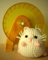 Little White Hamster by sootstitch