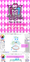 MH style in SAI tutorial - outlines, color by Qba016