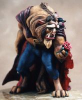 Beauty and the Beast statue2 by ArtNomad
