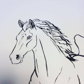 Horse Inks for Colouring Book! by CharReed