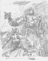 Captain America Sketch by jaypiscopo