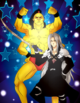 Mortal Fantasy - Sephiroth and Goro by Ueki2013