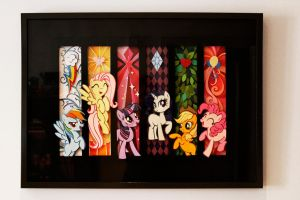My Little Pony PaperArt - Main 6 Collection by snip-it
