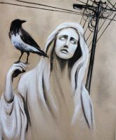 Mary with her magpie by electriclover