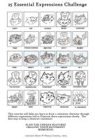CatBeard's 25 Expressions by PlummyPress
