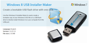 Windows 8 USB Installer Maker by vhanla