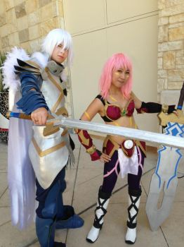 .hack// Balmung of the Azure Sky and Black Rose SJ by suuzan