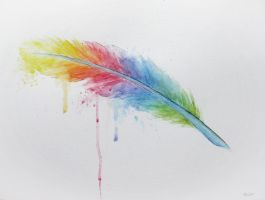 Rainbow Feather2 by BenjiiBen